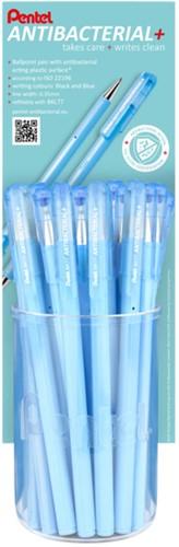Balpen Pentel BK77AB Anti-bacterieel display à 24 stuks blauw en zwart