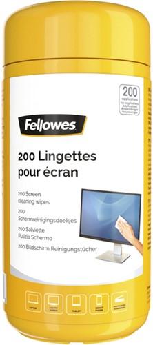 Reinigingsdoekjes Fellowes beeldscherm dispenser 200stuks
