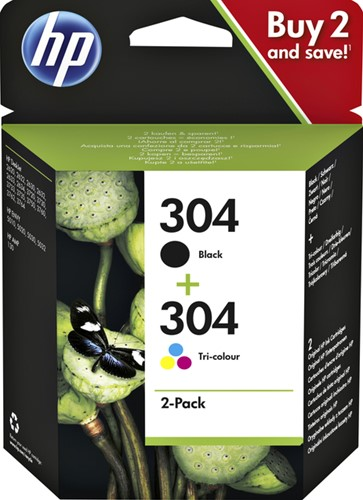 Inktcartridge HP 3JB05AE 304 zwart + kleur