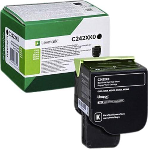 Tonercartridge Lexmark C242XK0 zwart