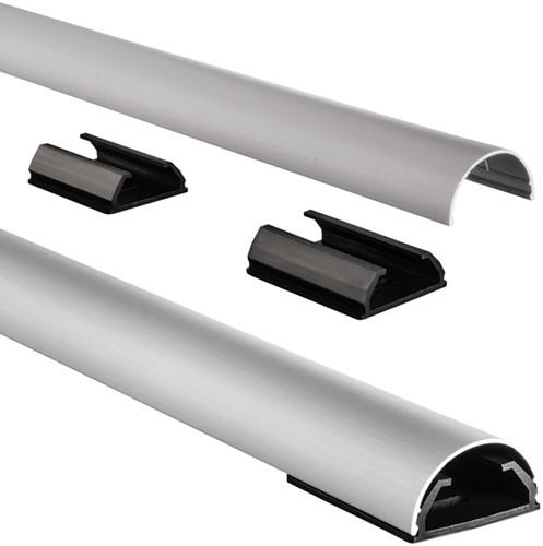 Kabelkanaal Hama halfrond 110/3,3/1,8 cm aluminium zilver
