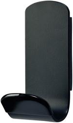 Kapstokhaak magneet Unilux Steely 1 haak zwart