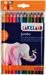Kleurpotloden Derwent lakeland jumbo blister à 12 stuks assorti