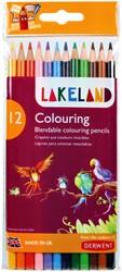 Kleurpotloden Derwent Lakeland blister à 12 stuks assorti