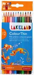 Kleurpotloden Derwent lakeland colouthin blister à 12 stuks assorti