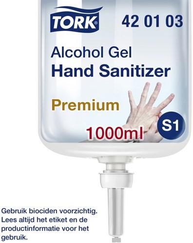 Handzeep Tork S1 420103 alcoholgel 1000ml