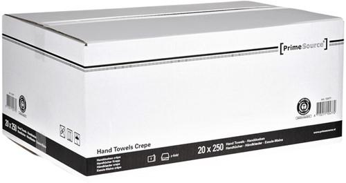 Handdoek PrimeSource Midi zigzag 1-laags 23x25cm grijs 20x250st