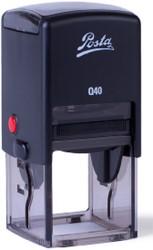 POSTA Q40 stempel max tekstoppervlakte 39x39mm