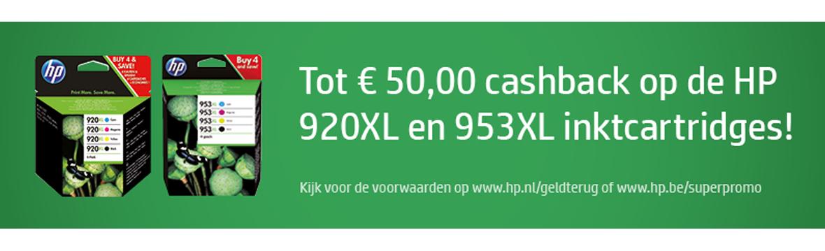 Voorpag - HP Cashback 920XL en 953XL