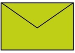 Envelop 90x140mm appel groen