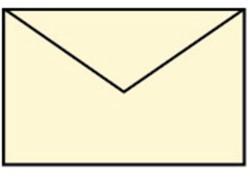 Envelop 90x140mm creme