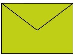 Envelop C6 appel groen