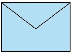 Envelop C6 baby blauw