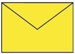Envelop C6 fel geel