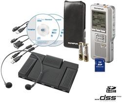 DICTEERAPPARAAT OLYMPUS DS-2400 + AS-2400 1 STUK