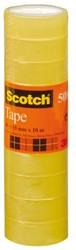 Plakband Scotch 508 15mmx10m transparant krimp 10rollen