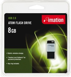 USB-STICK IMATION FLASH DRIVE ATOM USB 8GB 1 STUK