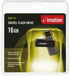 USB-STICK IMATION FLASH DRIVE SWIVEL 16GB 1 STUK
