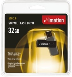 USB-STICK IMATION FLASH DRIVE SWIVEL 32GB 1 STUK