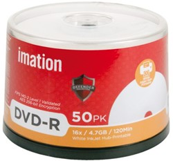 DVD-R IMATION DEFENDER 16X 4.7GB 50 STUK