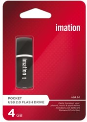 USB-STICK IMATION FLASH DRIVE POCKET 4GB 1 STUK