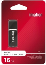 USB-STICK IMATION FLASH DRIVE POCKET 16GB 1 STUK