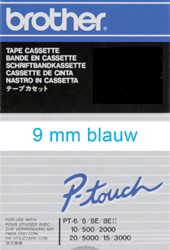 Labeltape Brother P-touch TC293 9mm blauw op wit