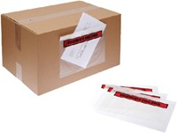 Paklijstenvelop Quantore zelfklevend bedrukt 225x115mm 1000s