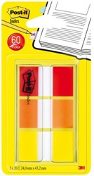 INDEXTABS 3M POST-IT 680-ROYEU ROOD/ORANJE/GEEL 60 STUK