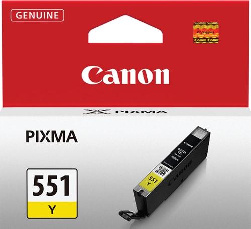Inktcartridge Canon CLI-551 geel