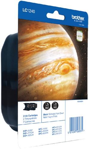 Inktcartridge Brother LC-1240BKBP2 zwart 2x