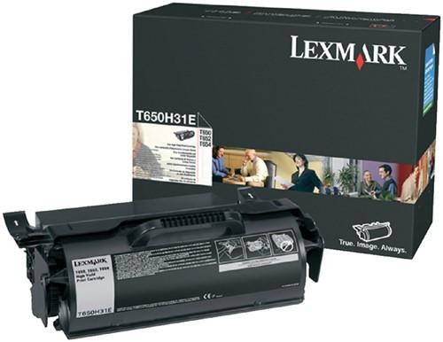 Tonercartridge Lexmark T650H31E zwart