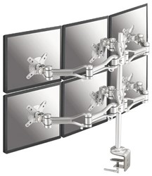 Flatscreenarm Newstar D1030D6 6 schermen zilver