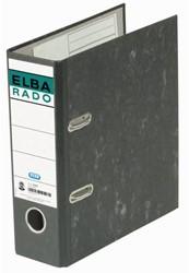 Ordner Elba Rado A5 staand 75mm karton zwart gewolkt