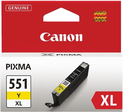 Inktcartridge Canon CLI-551XL geel HC