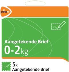 Pakketzegel aangetekend brief zelfklevend 0-2 kg