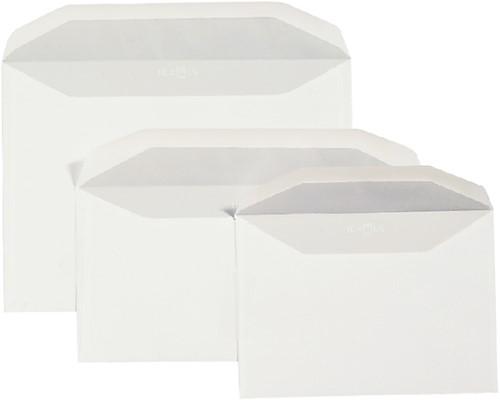 Envelop Quantore bank C5/6 114x229mm zelfklevend wit 50stuks