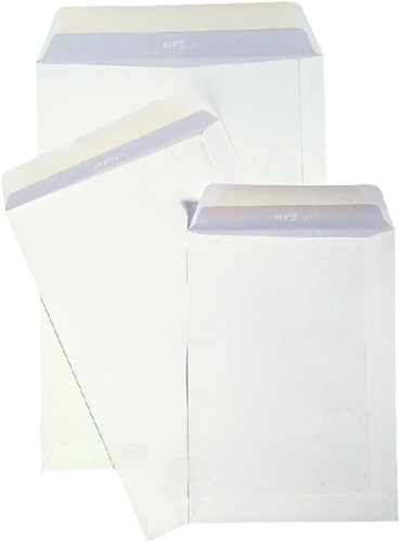 Envelop Hermes akte EB4 262x371mm zelfklevend wit 250stuks-2
