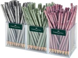 Potlood Faber Castell grip sparkle metallic design 48stuks
