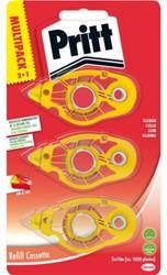 Lijmroller Pritt navulcassette non permanent 3 stuks blister