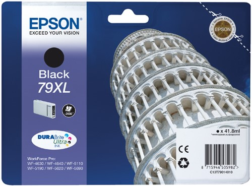 Inktcartridge Epson 79XL T7901 zwart HC