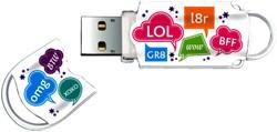 USB-Stick 2.0 Integral FD Xpression 8GB funny teksten