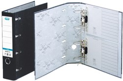 Ordner Elba Rado bank 75mm karton 2mechanieken zwart gewolkt