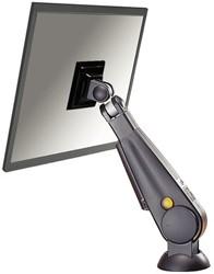 """LCD flatscreenarm Newstar D200 10-24"""" doorvoer zwart"""