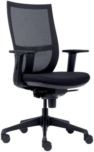Bureaustoel Euroseats Curve kunststof voetenkruis zwart