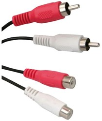 Kabel Icidu audio 2xRCA M/M 2meter rood/wit