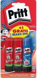 Lijmstift Pritt 2x 22gr + Magic op blister