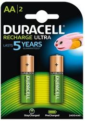 Batterij oplaadbaar Duracell 2xAA 2500mAh Ultra