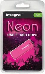 USB-stick 2.0 Integral 8GB neon roze