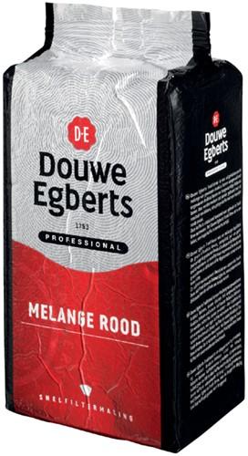 Koffie Douwe Egberts snelfiltermaling Roodmerk 1000gr